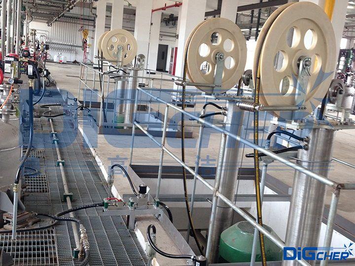 丙烯酸乳液聚合反应釜自动清洗系统高压管进给装置