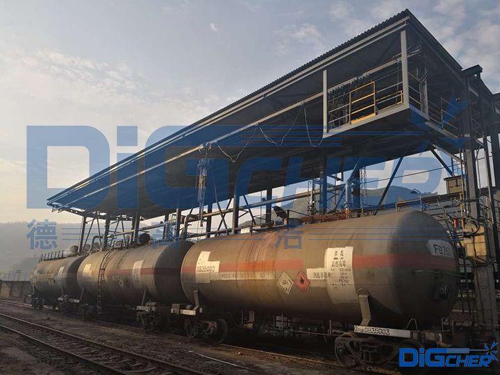 铁路罐车高压水自动化洗罐站