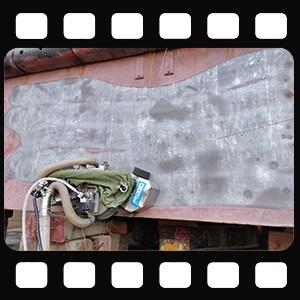船体除漆|船舶除锈爬壁机器人视频演示