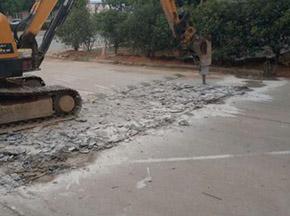 采用高压水技术进行旧路面破碎的好处