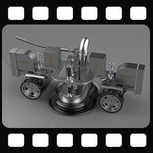 CR4D船体除锈机器人|船舶除锈机器人现场作业展示